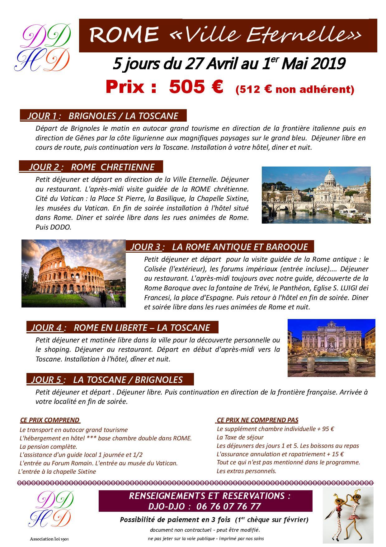 Rome 27 avril 1er mai